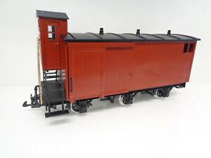 LGB Spur G gedeckter Güterwagen 3achs. mit BrHs und Metallrädern Eigenbau LA8931