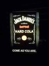ILLUMINATED JACK DANIEL'S Hard Cola Come as YOU are Bar Display Sign & Bracket