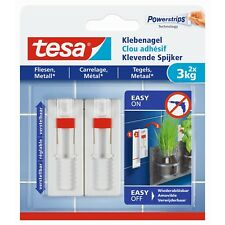 tesa Verstellbarer Klebenagel für Fliesen und Metall (3kg), Packung mit 2 Stück
