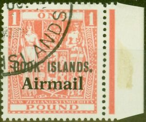 Cook Islands 1966 Pink SG193a Aeroplane Omitted Superb Used C.T.O