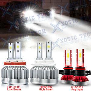 LED Headlights Kit + Fog Light 6000K Bulbs for GMC Sierra 1500 2500 3500 2007-14