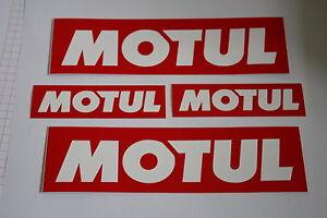 2 x MOTUL Aufkleber groß und 2 x MOTUL Aufkleber klein Motorrad PKW Aufkleber #