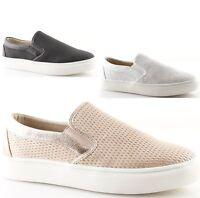 scarpe Slip on donna sneakers nere bianche rosa senza lacci estive