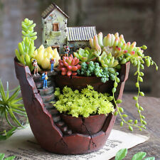 "6x5x7.5"" Sky Garden Mini Fairytale House Succulent Plant Planter Herb Bonsai Pot"