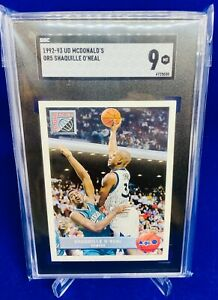 1992-93 Upper Deck McDonald's RC Shaquille O'Neal #OR5 SGC 9 Mint