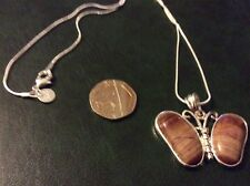 Picture jasper 925 silver pendant with a 925 silver snake chain app 18inch long