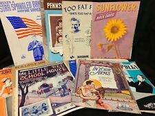 Vintage 20's, 30's 40's Sheet MUSIC Lot of 60 Piano, Ukulele, Polka & More