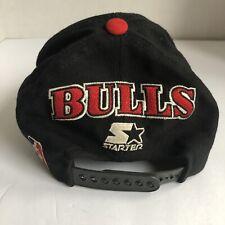 Vintage 1990s Chicago Bulls AUTOGRAPHED Starter Snap back Hat Cap NBA 90s