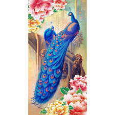 5D DIY Blue Peacock Flower Diamonds Embroidery Diamond Painting Cross Stitch Kit