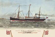 ss CASINO of Belfast & Koroit S N Co,  Port Fairy Art Postcard Modern Digital