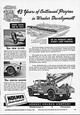 Print. 1958 Holmes Wreckers tow trucks - 43 years