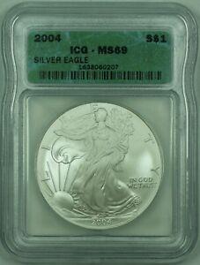 2004 American Silver Eagle S$1 Dollar ICG MS-69