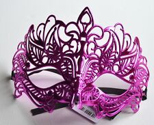 NEW Pink metallic look filigree Masquerade Mask Eye Prom Gothic halloween