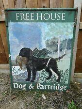 More details for old pub sign =====>>> dog & partridge