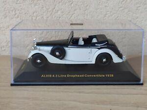 Alvis 4.3 Litre Drophead Convertible 1938 ixo museum Die Cast 1/43