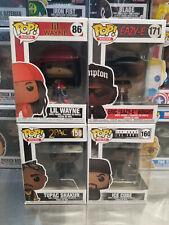 Funko Pop! Rocks Lil Wayne #86 Eazy-E #171 Tupac #158 & Ice Cube #160 *Mint*