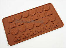VINTAGE Chocolate Candy Silicone Cake Cupcake Decorating Mould Sweet Button Pan