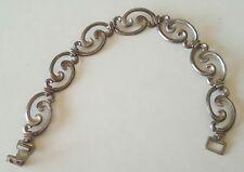 Vintage Wre Sterling Silver Link Bracelet