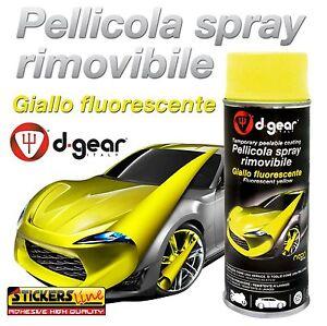 Vernice removibile GIALLO FLUORESCENTE 400ml Pellicola spray wrapping auto moto