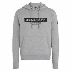 Belstaff Lister Fashionable Casual Wear Hoodie Grey