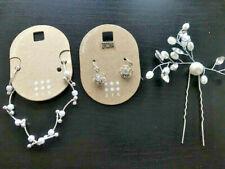 3tlg Schmuckset SIX Ohrringe & Armkette Armkettchen & Haarspangen elegant
