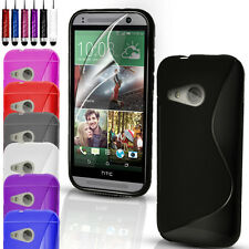 S-Line Gel Rubber Slim Case Cover For Many Mobile Phones & FREE Screen Protector