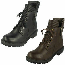 Zip Combat Boots Synthetic Shoes for Women