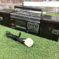 Retro 1980s PANASONIC FM49 Boombox - VTG Cassette Radio Ghetto Blaster RX-FM49L