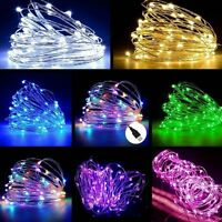 5M / 10M USB LED Copper Wire String Fairy Light Strip Lamp Xmas Party Waterproof