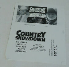 Uncut TV Ad Slick ~ Country Showdown hosted by WILLIE NELSON, JIMMY DEAN