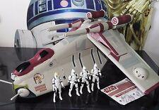 STAR Wars spedizione del veicolo + cifre Repubblica Gunship CRUMB Bomber + Clone Troopers