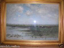 Fine Antique Painting Jan Vrolyk (Dutch,1845-1894)Watercolor Gouache ORIGINAL