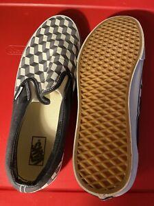 Vans Classic Slip On - RARE Zcube Pattern Black/gray Men's Skate Shoes Size 13