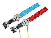 Photo Booth Props Weddings Parties Deluxe Star Wars Glitter Light Sabers x2PC