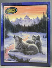 Winter's Dawn Wolves Puzzle Bits and Pieces 550 Pcs. Glow In The Dark New In Box