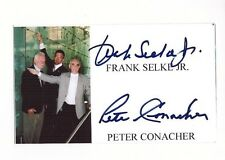 FRANK SELKE JR. (DIED 2013) & PETE CONACHER DUAL SIGNED 3x5 INDEX CARD AUTOGRAPH