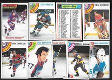 1978-79 OPC 78-79 O PEE CHEE NHL HOCKEY CARD 1-132 SEE LIST