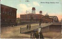 Shelton, CONNECTICUT - Bridge - 1913 - horse & buggy