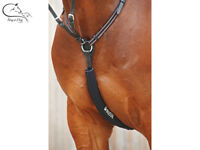 Busse Martingale Breastplate Draw Rein Sleeve Black Luxury Anti Chafing FREE P&P