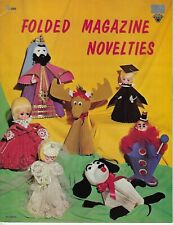 Folded Magazine Novelties VTG Paper Craft Origami Pattern Instruction Book H-200
