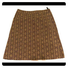 Boden A-line Brown Patterned Skirt (6)