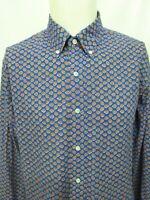 Ralph Lauren Blue Orange Paisley Long Sleeve Shirt Mens Size XL