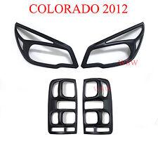 Matte Black Head Tail Lights Cover Holden Colorado RG 2012 - 2016 Z71 LTZ LT UTE
