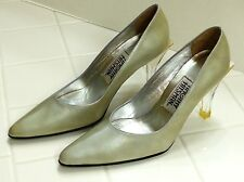 EUC Timothy Hitsman Women's Size 6 M Seafoam Green Patent Leather Pumps Ab Fab!