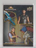 Thor Ragnarok Dual Costume Trading Card #AD-5 Chris Hemsworth Jeff Goldblum