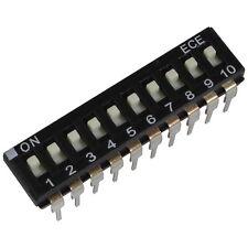 2 ECE eah-110-ez DIP switch 10 PIN IC 24v DC 25ma dil switch RM 2,54 855905