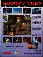 Original 1993 INSPECTOR GADGET Super Nintendo SNES video game print ad page
