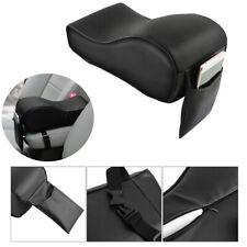 Car Interior Center Console Armrest Pad Cushion Mat Black PU Leather Memory Foam