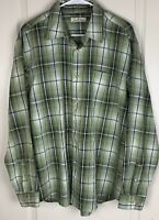 Paradise Collection Mens Long Sleeve Button Down Shirt Size L