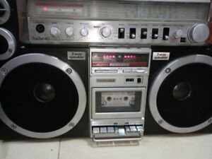 ULTRA RARE TOSHIBA BOOMBOX RT-S913 FULLY WORKING ,SEE VIDEO